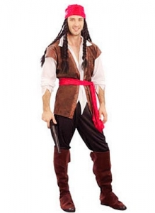Mens Caribbean Pirate Costume