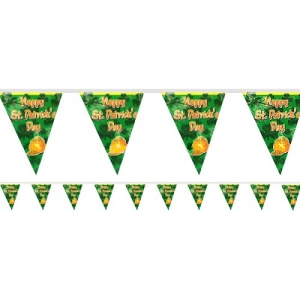 St Patrick's Day Plastic Flag Banner  Party/ Celebration Decoration 3.65m