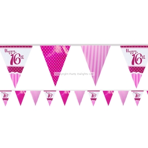 16th birthday flag banner party decoration 3.6m