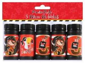 5 pirate bubbles pack, party bag filler and toy