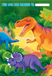 Dinosaur Prehistoric party loot bags pack of 8
