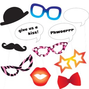 Classic photo booth party props kit