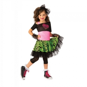 Girls 1920's Pink Flapper Fancy Dress Costume with headband