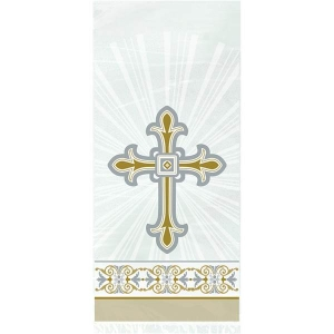 Religious Occasions Silver And Gold Radiant Cross Cellophane Party Bags