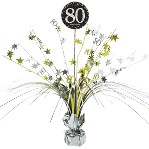 80th Birthday Sparkling Celebration Age 80 Table Party Decoration Centerpiece