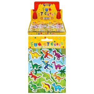 Dinosaur party sticker pack of 5 sheets loot bag filler
