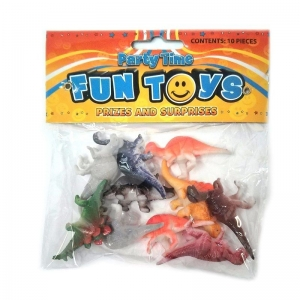 Pack of 10 Dinosaurs assorted party bag filler