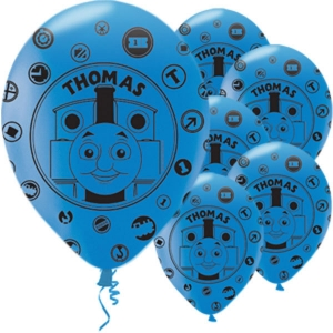 Thomas The Tank Engine Blue Party Balloons Pack of 6