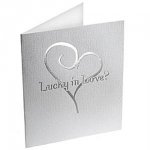 Contemporary Heart Lottery Ticket Holders White And Silver Wedding Gift