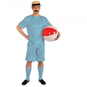 Adult Beachside Clyde Swimsuit Fancy Dress Costume