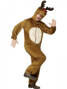 Adults Unisex 'Stag' Reindeer Costume with hood