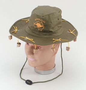 Australian Hat with corks 'Green'