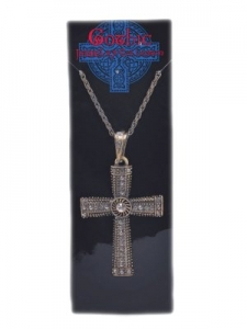 Halloween Gothic Jewelled Cross Necklace