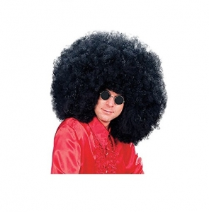Jumbo Supersized Jimmy Black Afro Fancy Dress Wig