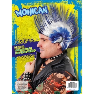 Punk Mohican Wig 'Blue'