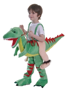 One size childrens riding dinosaur costume