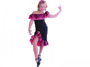 Girls Spanish Flamenco Dress