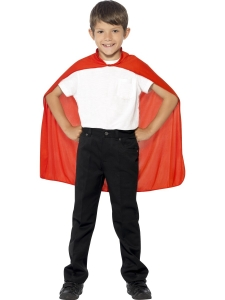 Childrens Fancy Dress Superhero Red cape