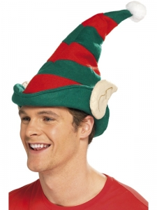 Christmas Elf Hat with Ears Deluxe
