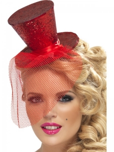 Christmas Fancy Dress Red Top Hat