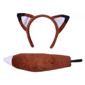 Fantastic Mr Fox head band and tail set unisex one size