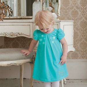 Girls Party Dress Disney Boutique Elsa Velvet Smock Dress