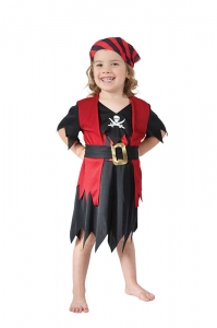 Girls Pirate Costume Toddler 2-4 Yrs