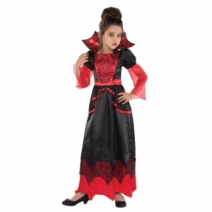Girls Halloween Fancy Dress Vampire queen Costume