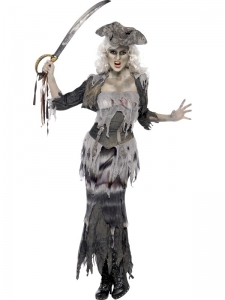 Ladies Ghost Ship Ghoulina Halloween Fancy Dress Costume