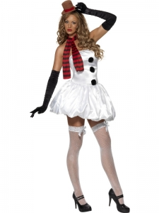 Ladies Sexy Fever Snowman Costume