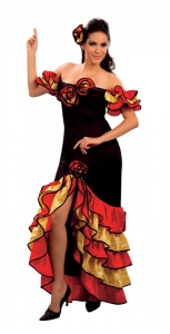 Ladies Spanish Rumba Flamenco Costume