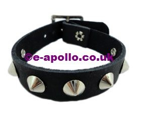 Leather Punk Studded Wristband
