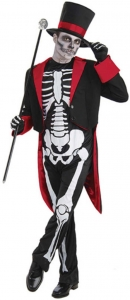 Mens Halloween Bone Jangles Costume
