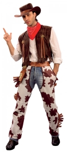 Mens Cowboy Costume 'Inc Hat'