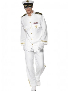 Mens Naval Captain Costume Deluxe
