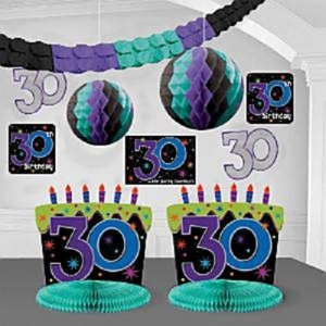 30th Birthday Party Room Decorating Kit