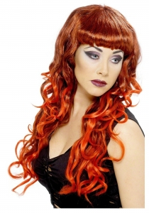 Halloween Red Siren Wig