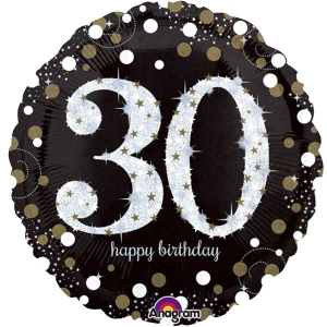 "Happy 30th Birthday Party Sparkling Mix Celebration 18"" Foil Balloon"