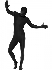 Second Skin Lycra Bodysuit Costume - Black