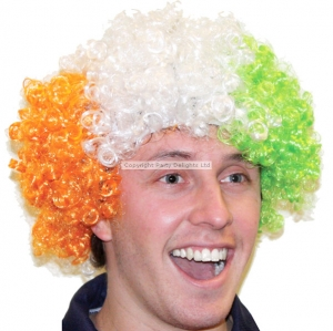 St Patricks day fancy dress afro wig