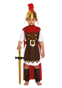 Boys Roman Soldier Warrior Gladiator Centurion Fancy Dress Costume