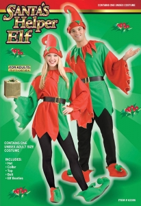 Unisex Santa's Helper Elf Costume