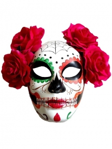 Day of the dead Deluxe Halloween Mask Fancy Dress accessory