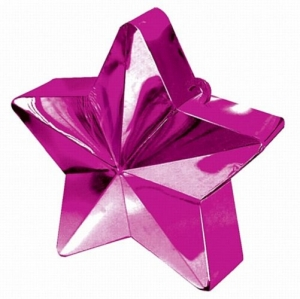 Party Celebration's Hot Pink Star Balloon Weight Table/ Party Decoration