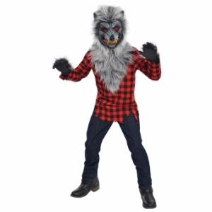 Teens Boys Hungry Howler Werewolf Costume