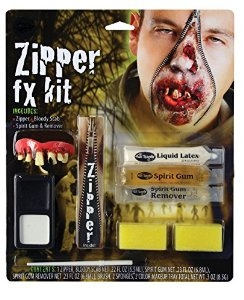 Halloween Fancy Dress zombie deluxe zipper kit
