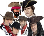 Wild West and Pirates Fancy Dress Hats