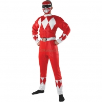 Mens fancy dress Mighty Morphin Red Ranger