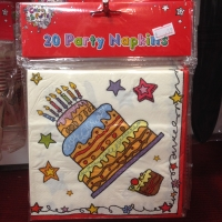 Happy birthday party napkins 2ply 20 in pack