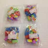 Mini love heart eraser's pack of 4